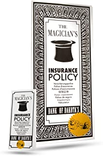 Magic Makers Ultimate Magician`s Insurance Policy Trick - Professional Pocket & Stage Versions Included