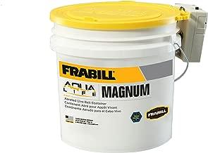 Frabill MIN-O2-LIFE Aerated Bait Bucket, 4.25-Gallon with Aerator
