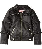 Bella Faux Leather Ruffle Jacket (Little Kids/Big Kids)