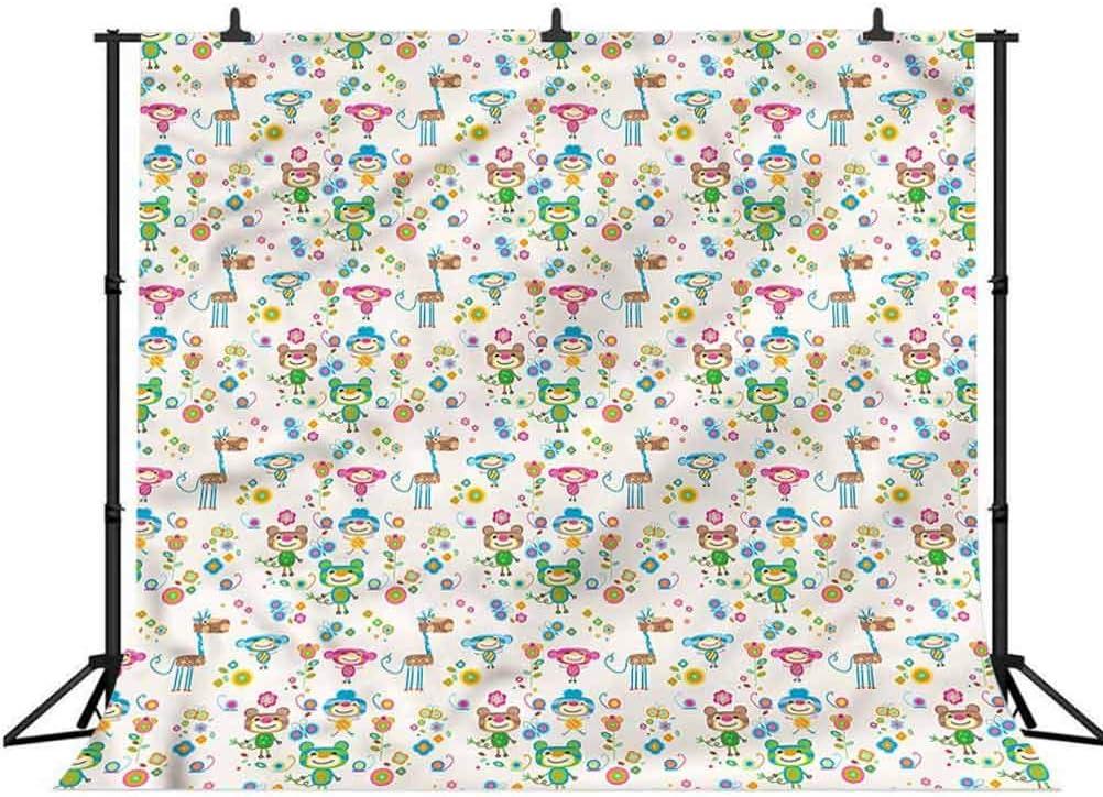 10x10FT Vinyl Wall Photography Backdrop,Floral,Exotic Hollyhock Flower Photo Backdrop Baby Newborn Photo Studio Props