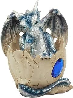 Ebros September Birthstone Dragon Egg Statue 4.25