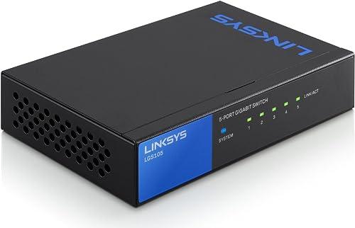 Linksys LGS105-EU Commutateur Gigabit administrable à 5 ports pour professionnels