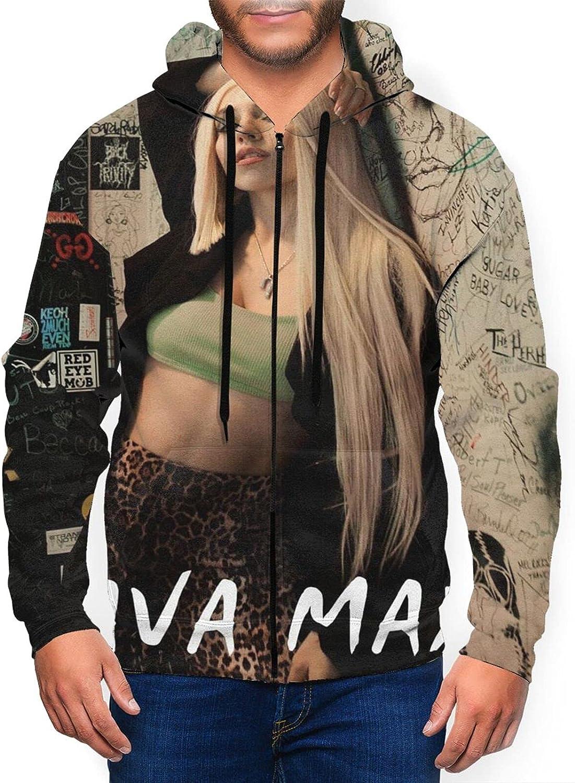 Department Max 81% OFF store Ava Max Men'S Hooded Zipper Shirt Coat Jacket Classic Casual