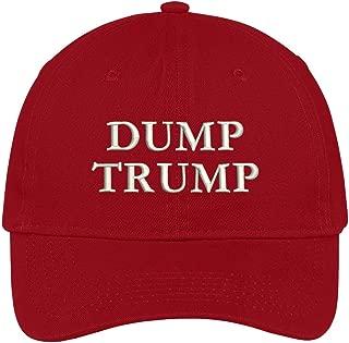 Trendy Apparel Shop Dump Trump Embroidered Brushed Cotton Dad Hat Cap