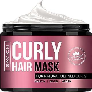 SAVION Hair Mask For Curly Hair, Deep Hair Treatment For Dry Damaged Or Frizzy Hair, Moisturise & Defrizz , Ecoflex5 Compl...