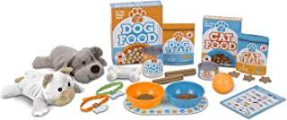 Melissa & Doug Feed & Play Pet Treats Play Set With 2 Plush Stuffed Animals (26 pcs)