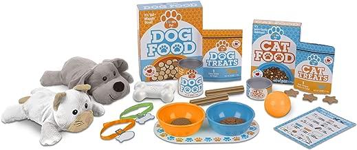 Melissa & Doug Feed & Play Pet Treats Play Set With 2 Plush Stuffed Animals (26 pcs)