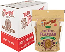 Bob's Red Mill Organic Raw Whole Golden Flaxseed, 13-ounce (Pack of 6)