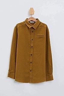DeFacto Fleto Cep Polo Yaka Kadife Uzun Kollu Gömlek