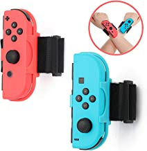 ECHZOVE Wrist Bands for Nintendo Switch Just Dance 2020, Fit for Children's Wrist or Thin Wrist - 3.15-7.5 inches Wrist Circumference (2 Packs)
