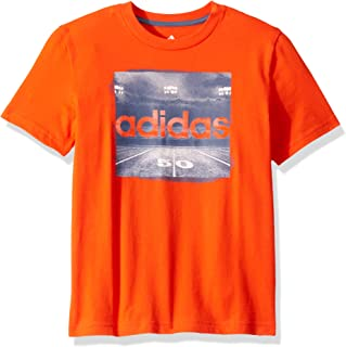 orange adidas football shirt