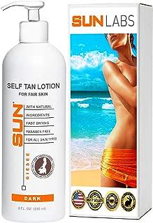 Self Tan Body Lotion for Fair Skin   Sunless Tanning Lotion - Light to Medium tones   Sunless Bronzer   Fake Tan Cream   Instant, Fast-Drying, Streak-Free Self Tanner