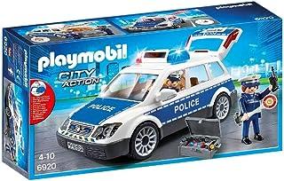 PLAYMOBIL City Action Coche de Policía con Luces y Sonido, a Partir de 5 Años (6920)