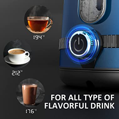 GREECHO Electric Kettle, 7-Gear Electric Kettle Temperature Control (Boil & Keep Warm) with LED Display, 1.7L Electric Te