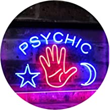 Psychic Reader Star Moon Boutique Bedroom Décor Dual Color LED Neon Sign Red & Blue 400 x 300mm st6s43-i3088-rb