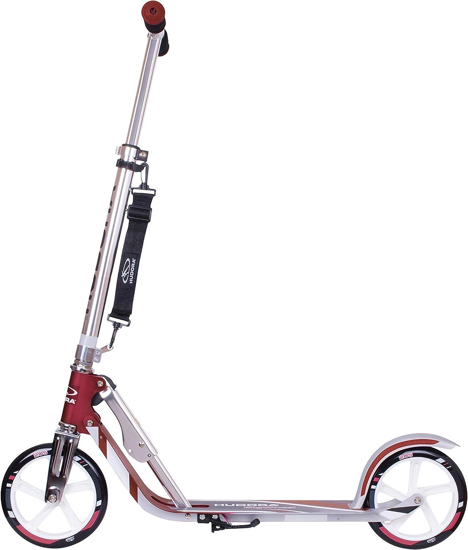 HUDORA 14751 BigWheel 205-Das Original mit RX Pro Technologie-Tret-Roller klappbar-City-Scooter, türkis Magenta/Silber