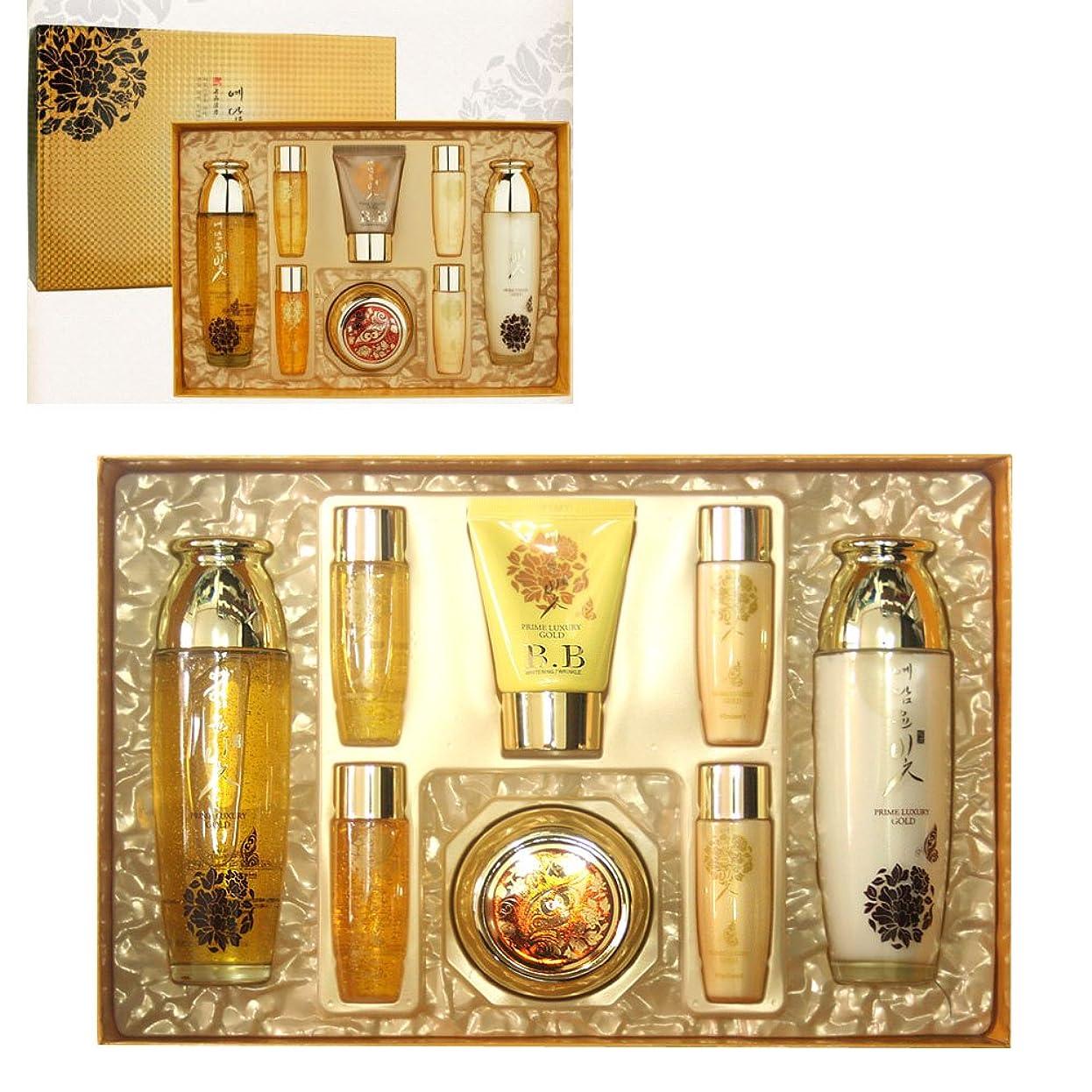 実際ラジウム一人で[YEDAM YUN BIT]  プライムラグジュアリーゴールド女性のスキンケア4種セット/ Prime Luxury Gold Women Skin Care 4pcs Set / リンクルリペア/ホワイトニング / Wrinkle repair / Whitening / 韓国化粧品 / Korean Cosmetics [並行輸入品]