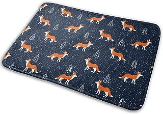 Cute Cartoon Fox Doormat Entrance Rug Floor Mats Non Slip Carpet Easy Clean Door Mat 15.7