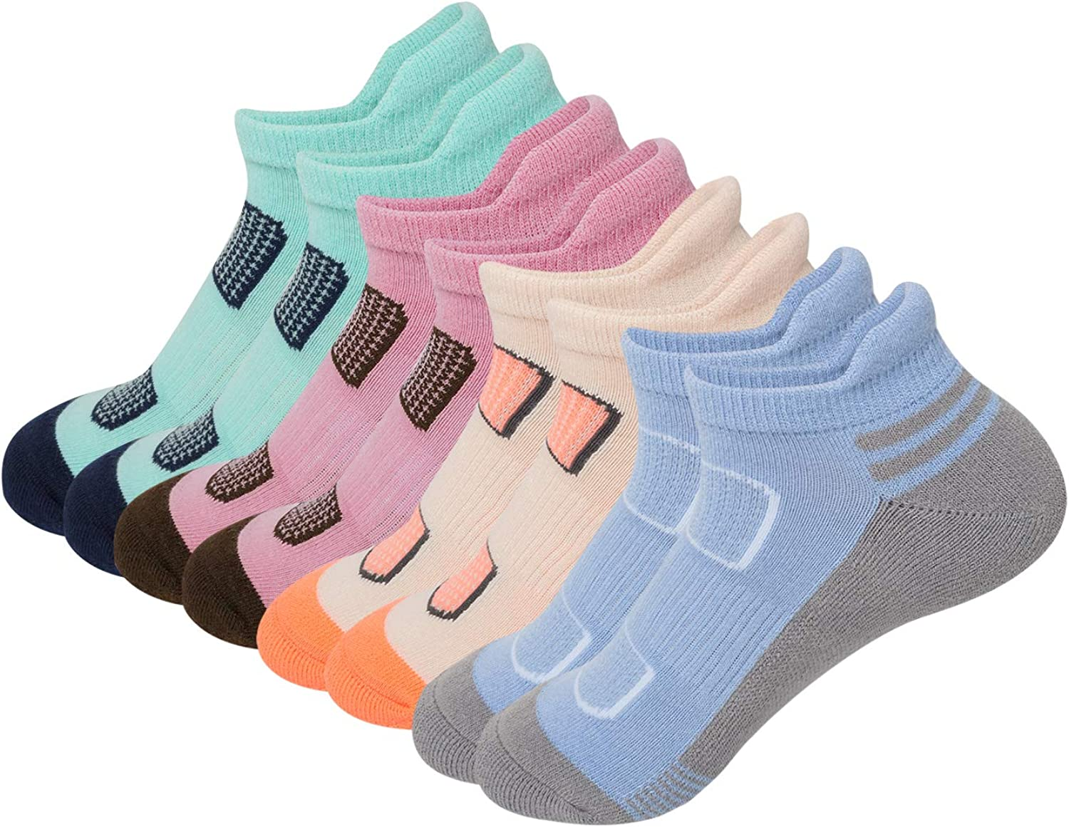 AIRSTROLL Dallas Mall Coolmax Athletic All items free shipping Running Ankle Womens L Colorful Socks