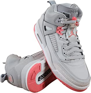 Jordan Grade School Spizike (4 M US Big Kid, Wolf Grey/Sunblush/Pure Platinum)