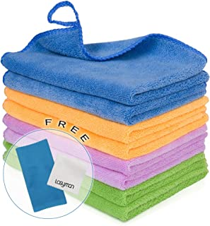8PCS Cleaning Towels for House - Softer Microfiber Cleaning Rags for Kitchen,Car, House, Glass, Stainless Steel, Premium Absorbent Cleaning Cloth, 2PCS Screen Cloth as Gift