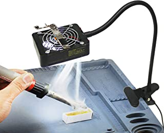BAOSHISHAN Fume Extractor Solder Smoker Absorber Fan with Table Clamp and Light for Phone Repairs Work (M2)