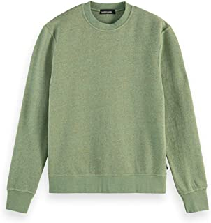 Scotch & Soda Men's Melange Felpa Crewneck Sweat Sweatshirt