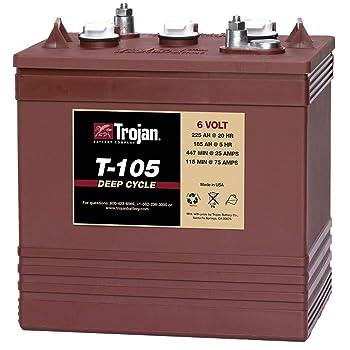 Trojan T-105 6 Volt Battery