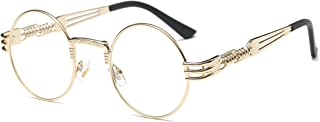 John Lennon Glasses Quavo Steampunk Round Sunglasses Circle Metal Frame Eyewear for Men and Women