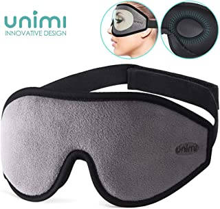 Eye Mask for Sleeping, Unimi 3D Contoured Sleep Mask & Blindfold for Men Women,Super Soft and Comfortable,100% Blockout Light 3D Eye Cover for Travel, Shift Work, Naps (Grey)