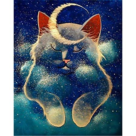 12x16inch DIY 5D Diamond Painting Kits for Adults /& Kids Cartoon Animals Full Drill Round Diamond Crystal Gem Art Painting Perfect for Home Wall Decor Gift