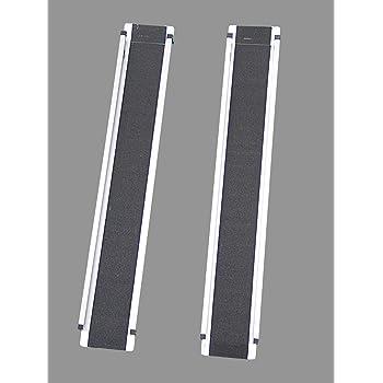 vidaXL 2X Auffahrrampe Laderampe Rampe Autorampe Verladerampe Auffahrschiene Schiene Auffahrhilfe Motorradrampe Stahl 450kg 170x22,5x4,5cm