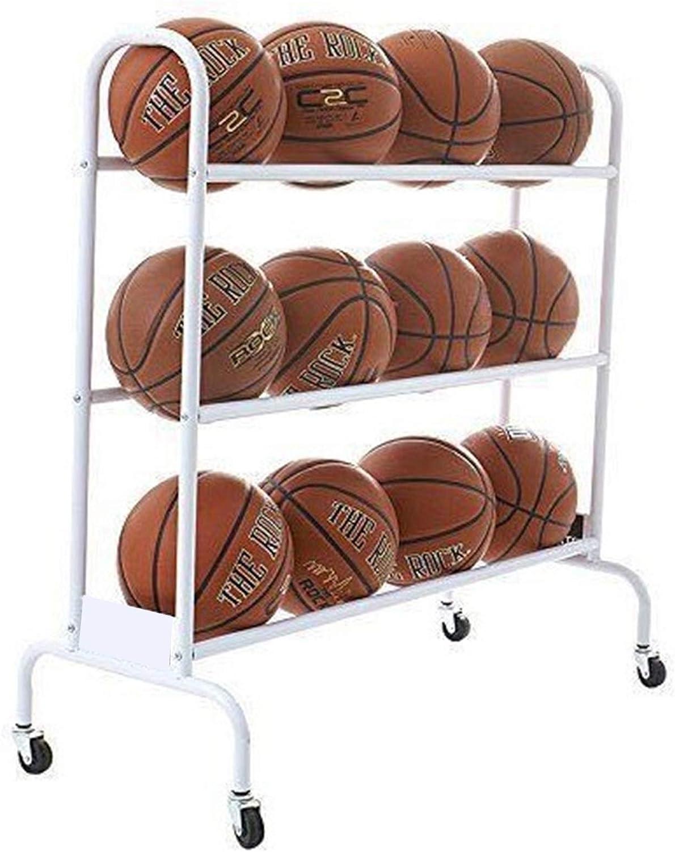 LLFF 12- safety Balls Rolling Sports Basketball Cart Ball Storage Rack Ranking TOP10