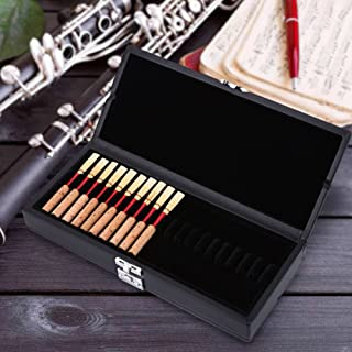 Oboe Reed Case Box Wooden + PU Leather Cover 2 Layers Oboe Reeds Box Case Holder Storage for 40pcs Oboe Reeds