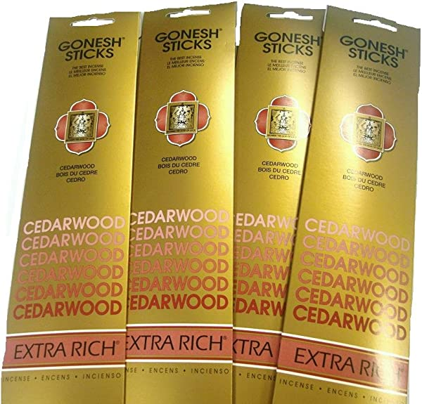 Gonesh Incense Sticks Cedarwood Lot Of 4
