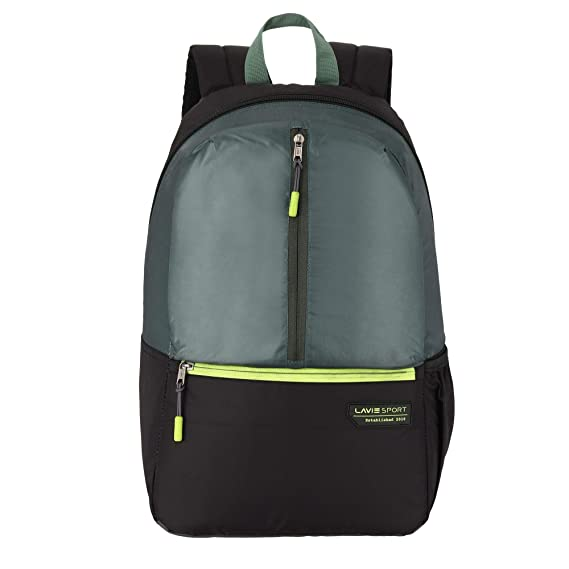 Lavie Sport 24 Ltrs Olive Green Casual Backpack (BDEI914247N4)