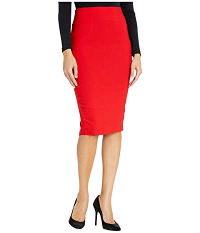 Unique Vintage Stretch High-Waist Tracy Wiggle Skirt (Red) Women