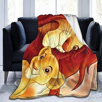 Nat Abra Ultra Doux Micro Couverture en Molleton Jeter Super Doux Hypoallergénique en Peluche Canapé Lit Salon Lion Roi