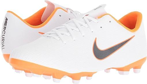 White/Metallic Cool Grey/Total Orange