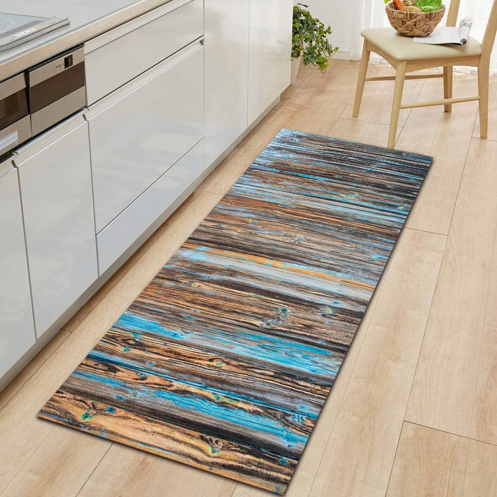 Tulsa Mall Choice OPLJ Simple and Colorful Wood Grain Carpet Bedr Door mat Kitchen
