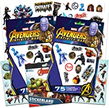 Marvel Avengers Tattoos and Stickers Party Supplies Kit (Party Favor Packs: 150 Temporary Tattoos, 120 Stickers Total)
