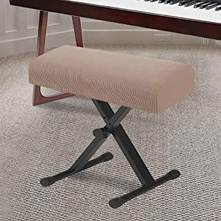 Stretch Piano Stool Cover Keyboard Bench Covers Non Slip wit