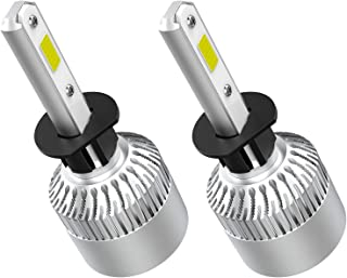 Crownova H1 Led Headlight Bulbs, S2 Series Flip Cob Chips, 3600lm Hi/Lo Beam, 6500k Cool Daylight