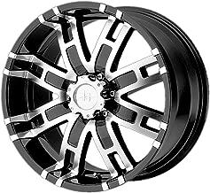 Helo HE835 20x9 5x5.5 18mm Black/Machined Wheel Rim 20