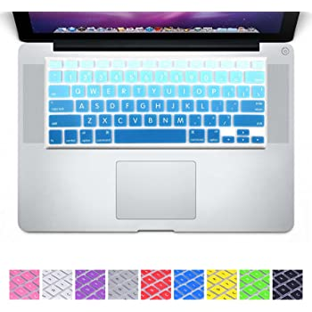 Silicone Keyboard Cover for MacBook New Air 13 Model A1932 2018 2019 US Enter English Alphabet-Sky