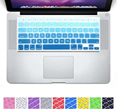 DHZ D6 Big Font Sky Blue Gradient Keyboard Cover Silicone Skin for MacBook Air 13 and MacBook Pro 13