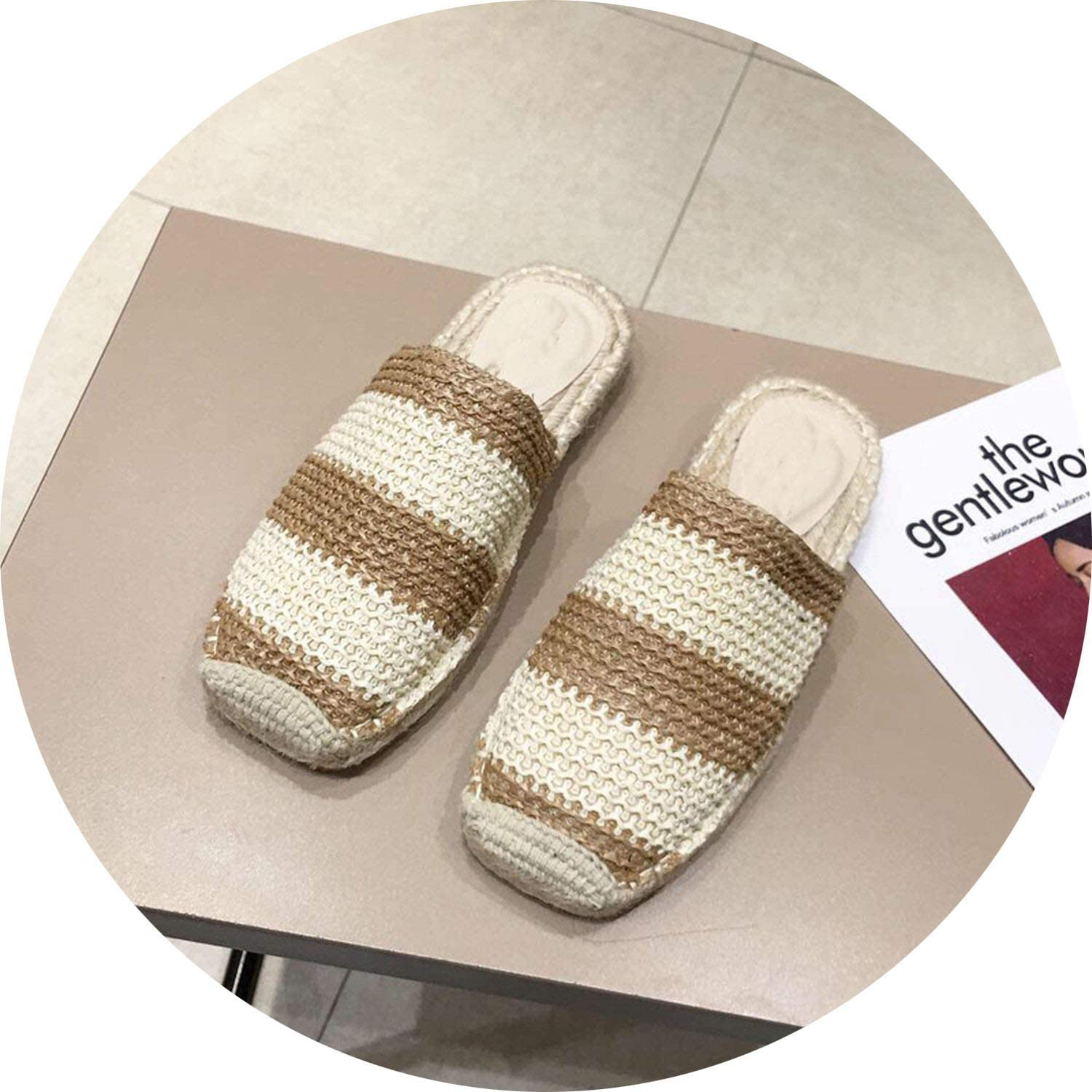 FINDYOU Slippers Slides Women shoes Cane Woven Mules Slippers Fashion Slides