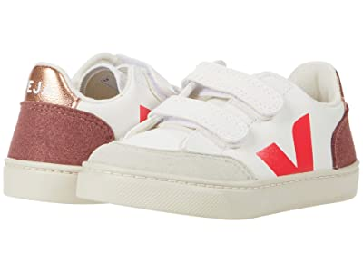 VEJA Kids Small V-12 Hook and Loop (Toddler) (Extra White/Multicolor/Dried Petal) Kid