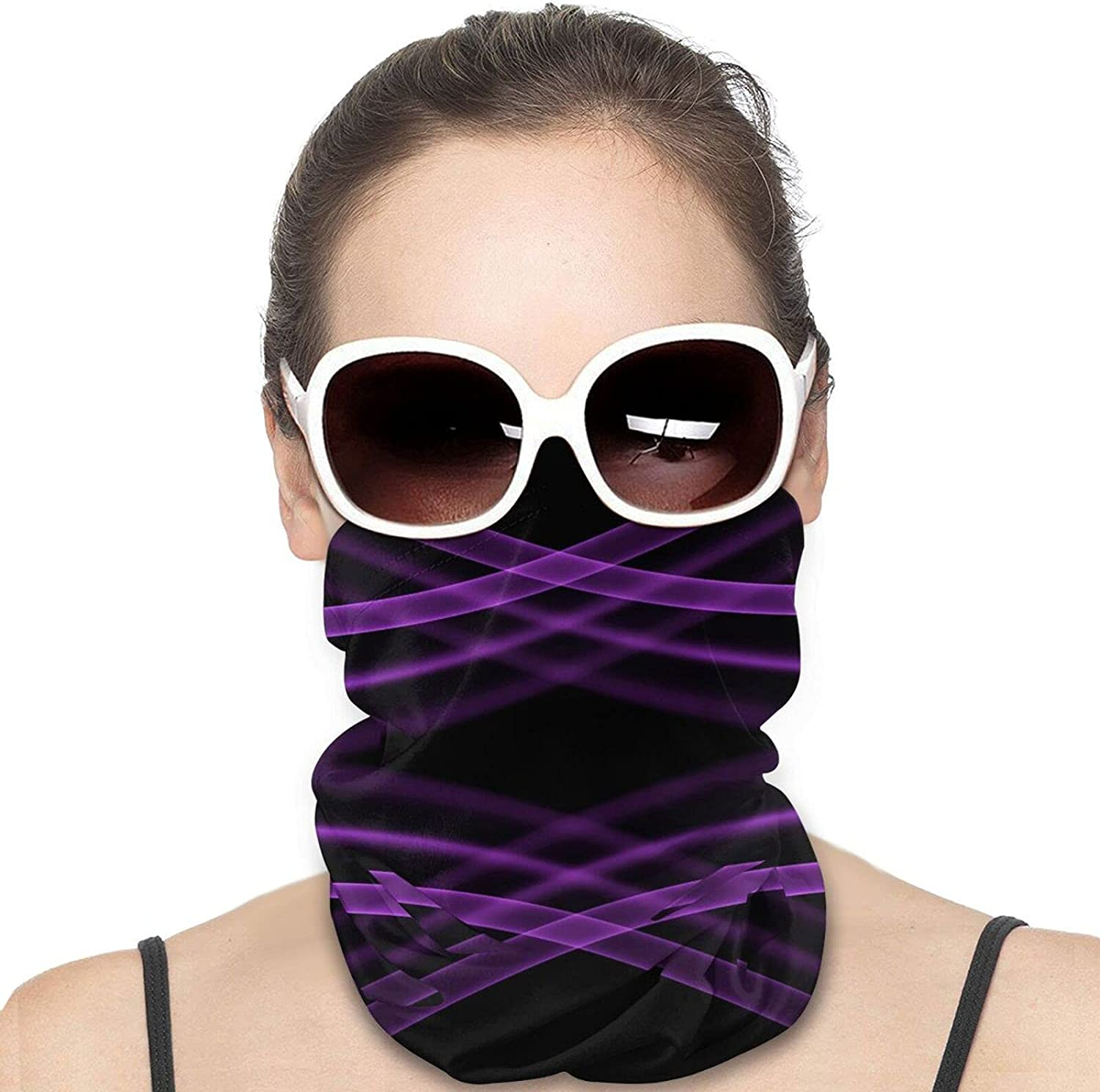 Black Purple Gradient Unisex Neck Gaiter Face Mask Man Womans Multifunction Balaclava Face Cover,Cycling Mask,Sport Neck Gaiter,Hiking Scarf,Fishing Mask, Motorcycle Face Cover
