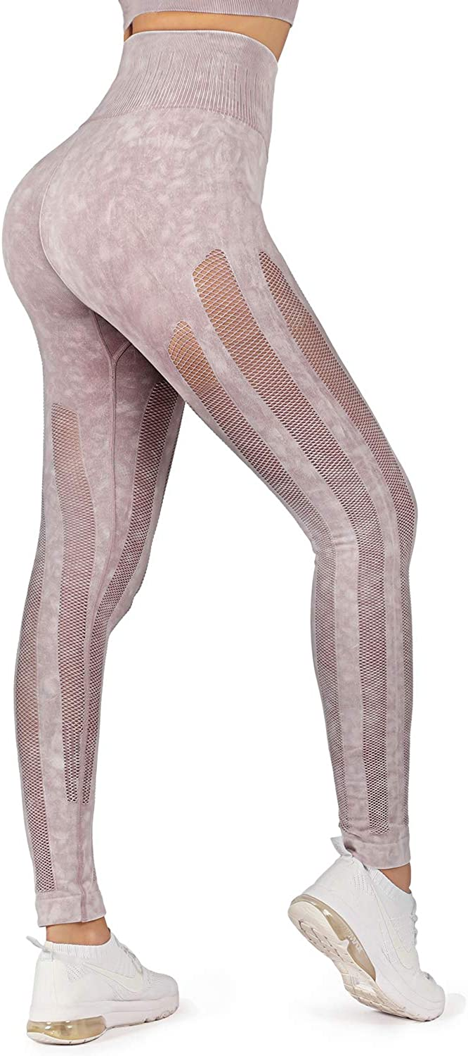 WOWENY Women High 2021 spring and summer 2021 autumn and winter new new Waist Yoga Compression Cute Legging Mesh Pants